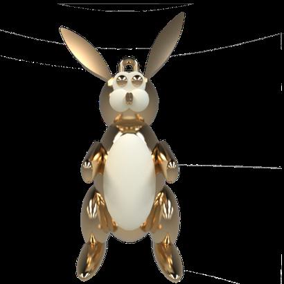 Rabbit pendant Sculpteo