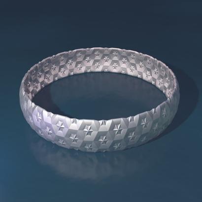 silver bracelet star - 65 x 15 x 1 mm