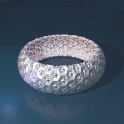 bracelet étoile - 65 x 30 x 2 mm