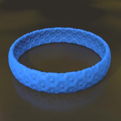 bracelet étoile 65 x 15 x 2 mm