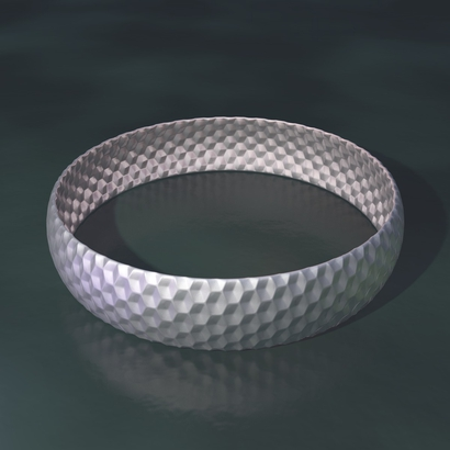 bracelet cubes illusion - 65 x 15 x 1 mm