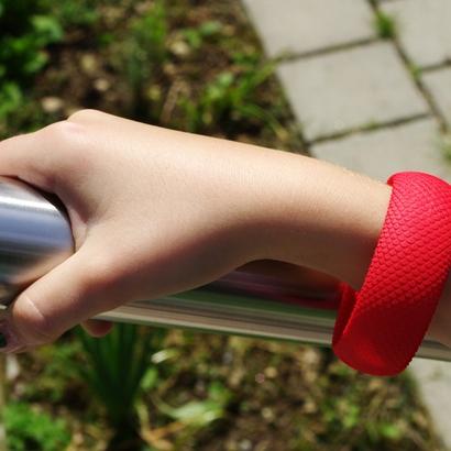bracelet snake skin - 65 x 24 x 2.5 mm