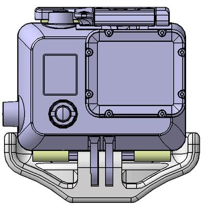 Gopro 1 / 2 / 3 mount skydive helmet
