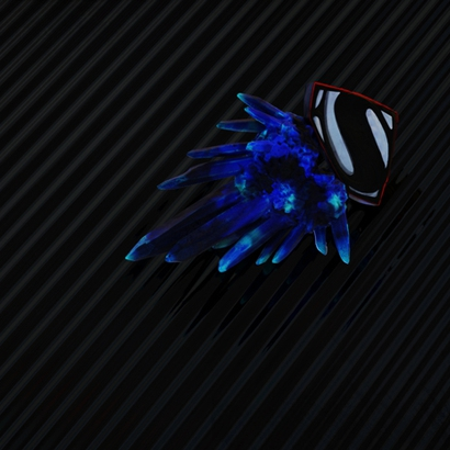Blue kryptonite Pendant
