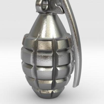Grenade pendentif hauteur de 25mm