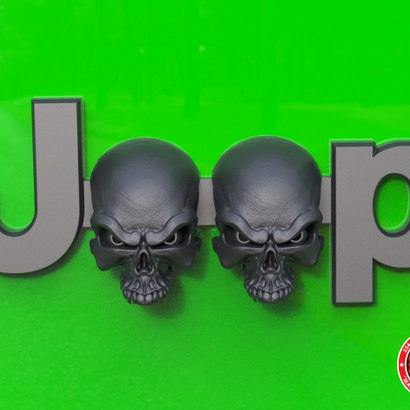 Cuz it's Custom Wicked Skulls Emblem for Jeeps (JK OEM)