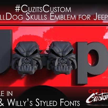 Evil Bull Dog Skulls (JK OEM)