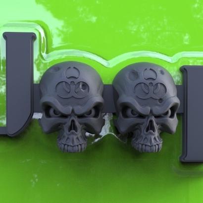 Cuz it's Custom Zombie Skulls Emblem for Jeeps (JK Willys)