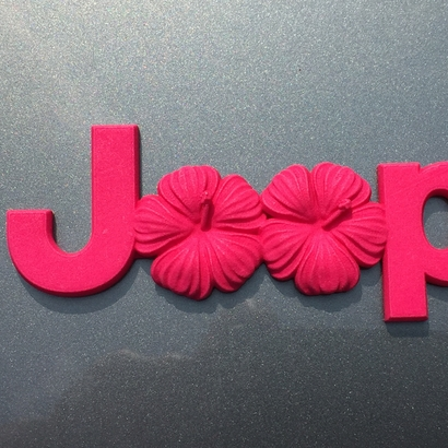 Cuz it's Custom's Island Flowers Emblem For Jeeps (JK OEM)