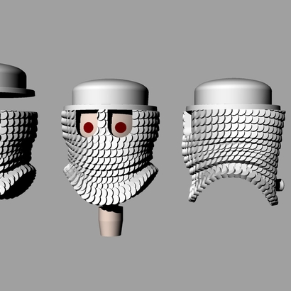 CHAINMAIL HOOD with peg and eyeholes X4