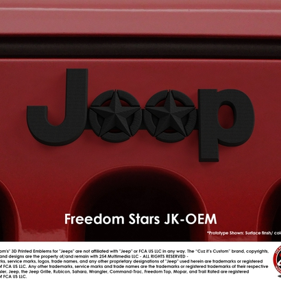 Cuz it's Custom Freedom Stars Emblem for Jeeps (JK OEM)