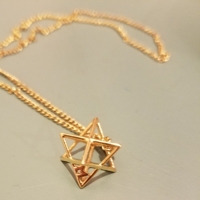 MILOSAURUS Tetrahedral 3D Star of David Pendant