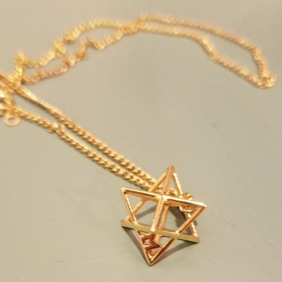 MILOSAURUS Tetrahedral 3D Star of David Pendant