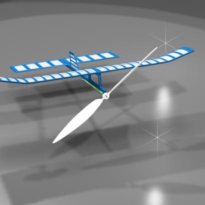 Avion à moteur élastique