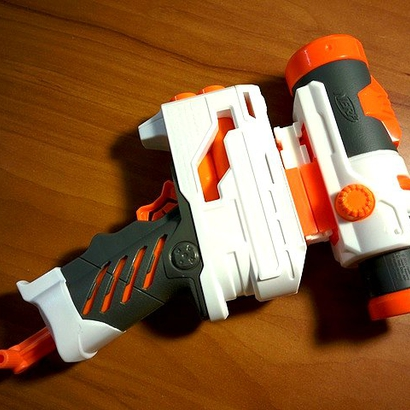 Back-to-Back Nerf Rails Adapter (3 Slots)
