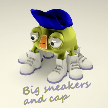 Big sneakers and cap