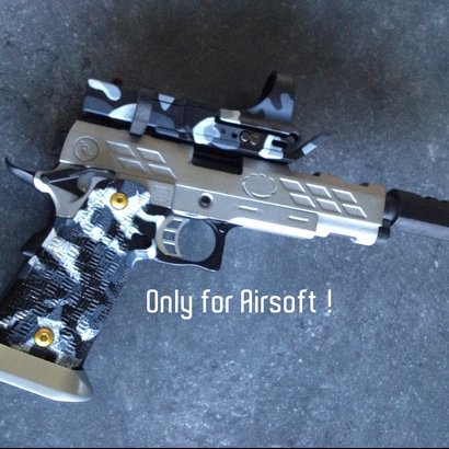 Airsoft Open Black Barrel kit for HiCapa