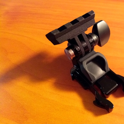 Picatinny Rail to GoPro Mount Adapter (Side Tilting)
