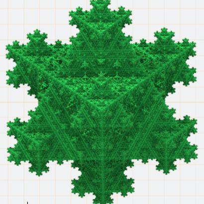 Flocon de Koch tétraèdrique niveau 5