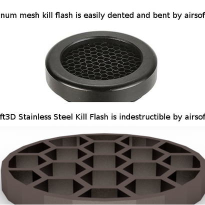 30mm Honeycomb Kill Flash / Sight Protector (Stainless Steel)