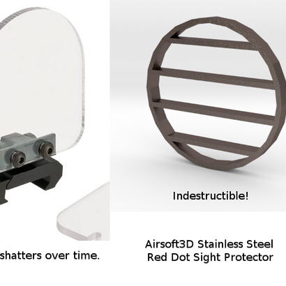 55mm Red Dot Sight Protector (Stainless Steel)