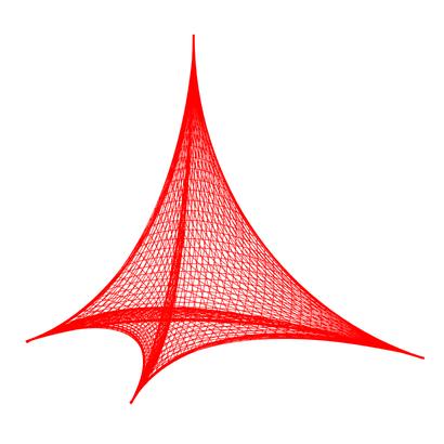 Hyperbolic concave Reuleaux tetrahedron