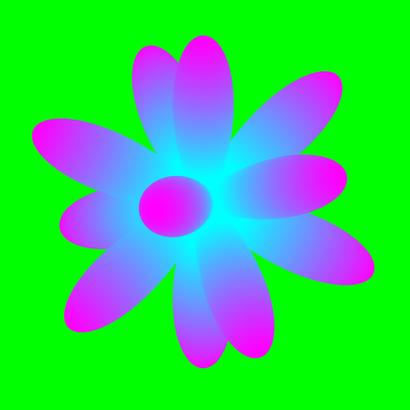 Fleur icosaèdrique sinusoïdale