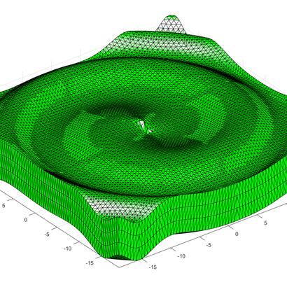 Surface spiralante de Fermat