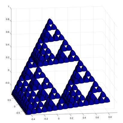 Sierpinski-Reuleaux fractal tetrahedron level 4