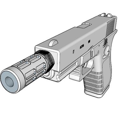 EXO Flash Hider (14mm-)