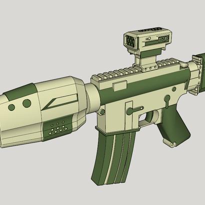 Gunder R4F SciFi CQB Rifle