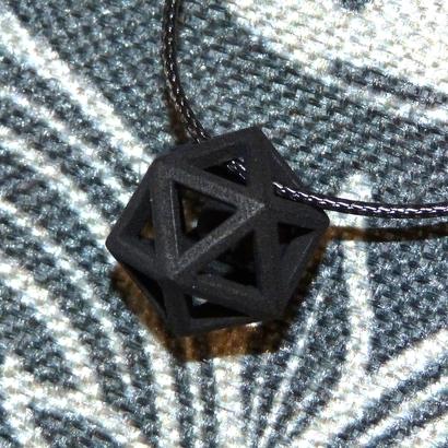 Polyhedron pendant with interlocked heart