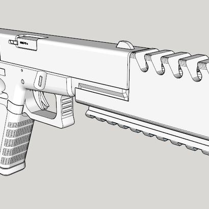 Airsoft Compensator with Bottom Rail for G17 and G18