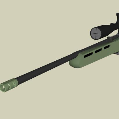 "AWP Sniper Airsoft Muzzle Brake (1"" Male +)"