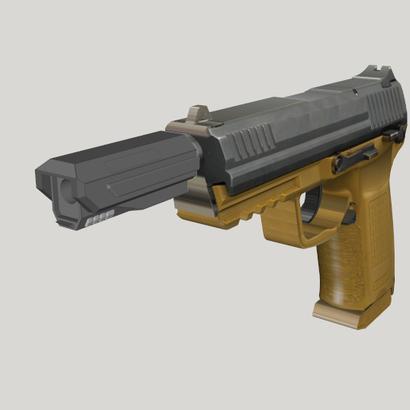 Pistol SciFi Muzzle Compensator (Solid)