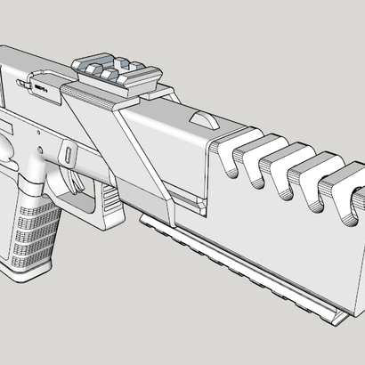 Suppressor with Top and Bottom Rails for G17, G18C, M&P40, M&P9