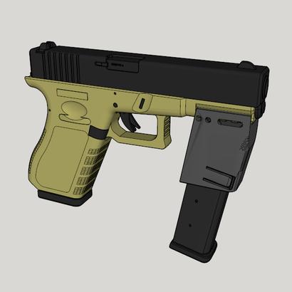 9mm Magazine Forward Grip for Pistol