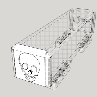 Time to Die Skull Door for Stick Battery Box