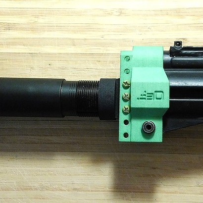 TeleScopix to AR15 Buffer Tube Adapter