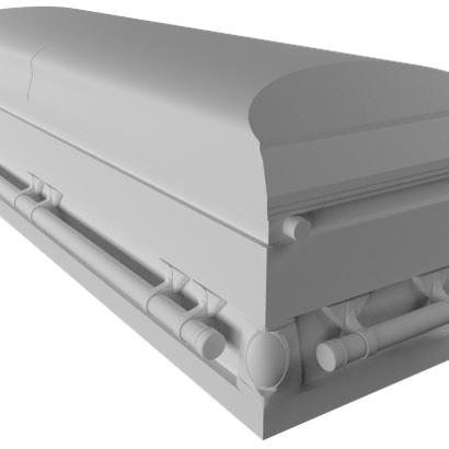 1:18 Scale Casket - Shell Only