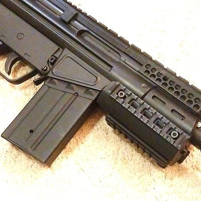 G3 SAS Full Length Picatinny Rail with Rear Sight Replacement