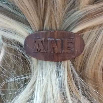ANE Personalized Oval Hair Barrete 40-50