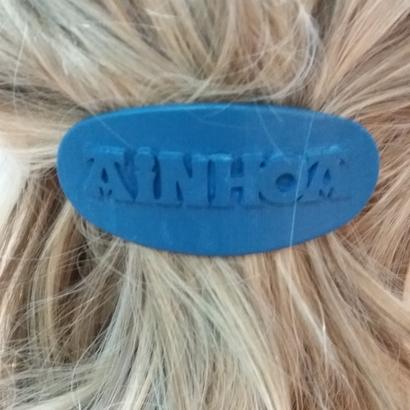 AINHOA Personalized Oval Hair Barrete 60-76