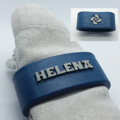 HELENA 3D Napkin Ring with lauburu