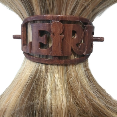LEIRE Personalized Oval Hair Stick Barrete 54x30mm