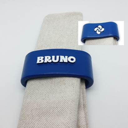 BRUNO 3D Napkin Ring with lauburu