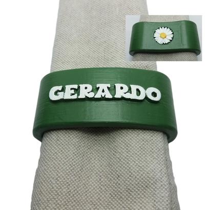 GERARDO 3D Napkin Ring with daisy