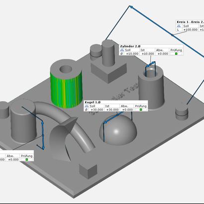 Geometric 3D printer test _ Geometrischer 3D Druckertest