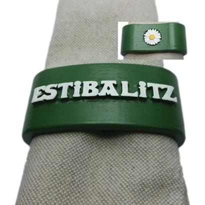 ESTIBALITZ 3D Napkin Ring with daisy