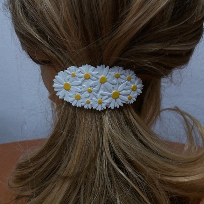 Hair Barrete with Daisies  70-86/60-76